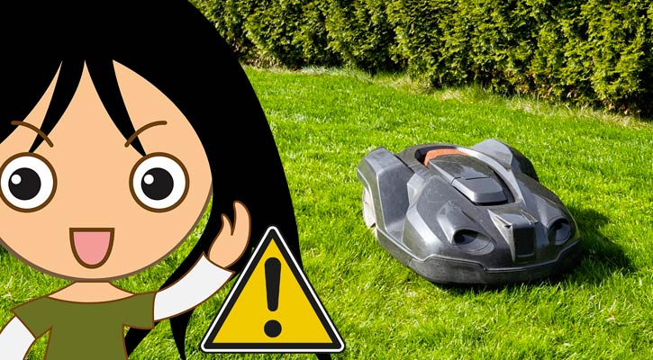 Sécurité des robots de tonte vis à vis des enfants